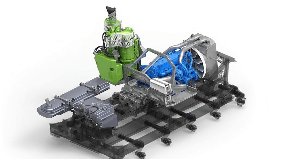 Der kompakte Motor des PistenBully 600 Polar.