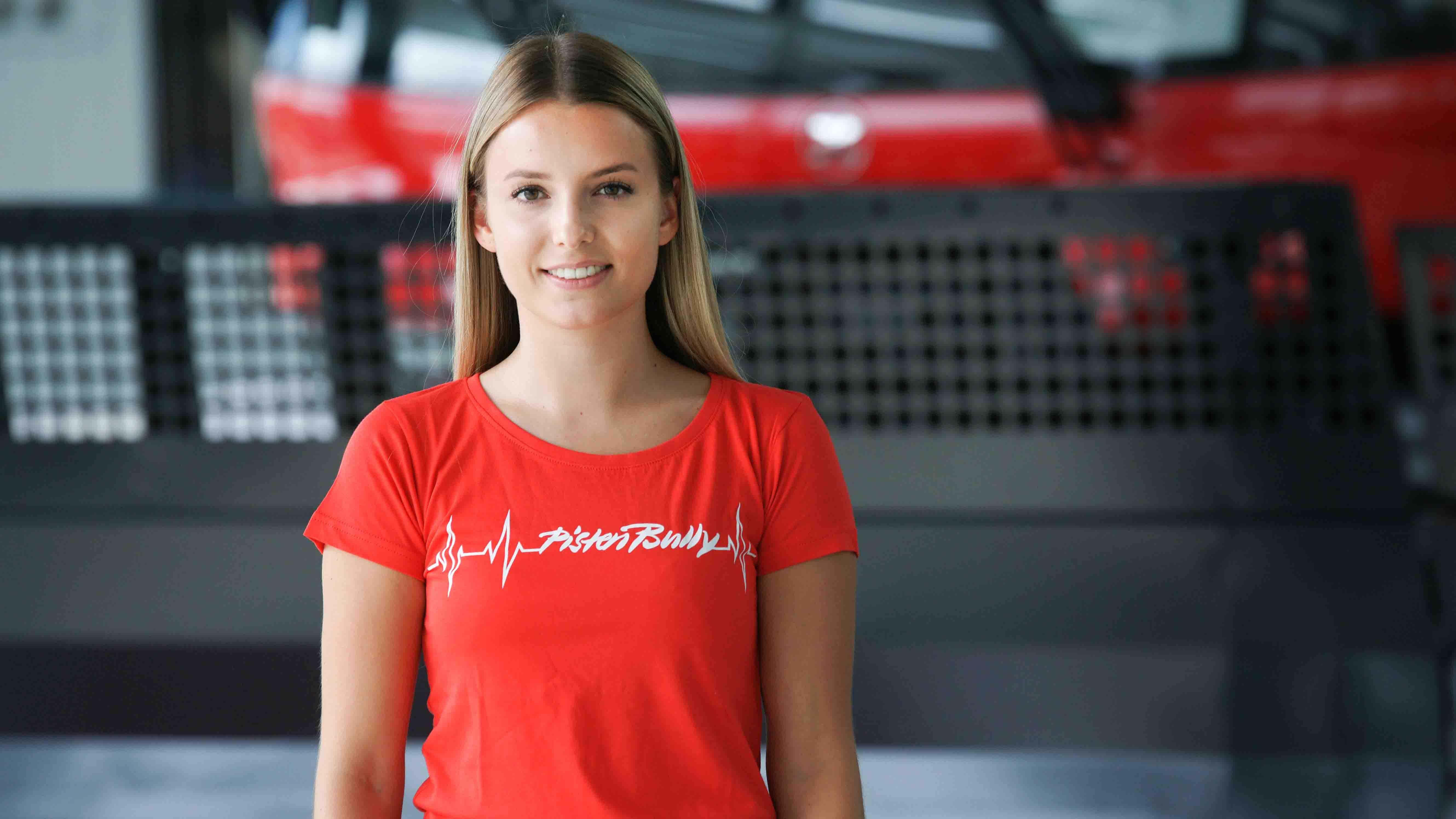 PistenBully Ladies T-Shirt Heartbeat